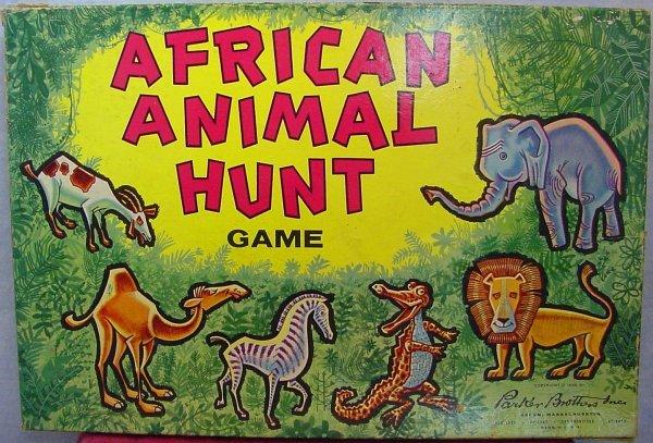 1008: 1960 African Animal Hunt Game Parker