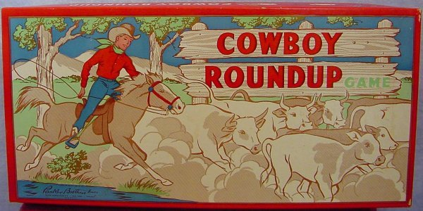 1014: Parker Brothers Cowboy Roundup Game