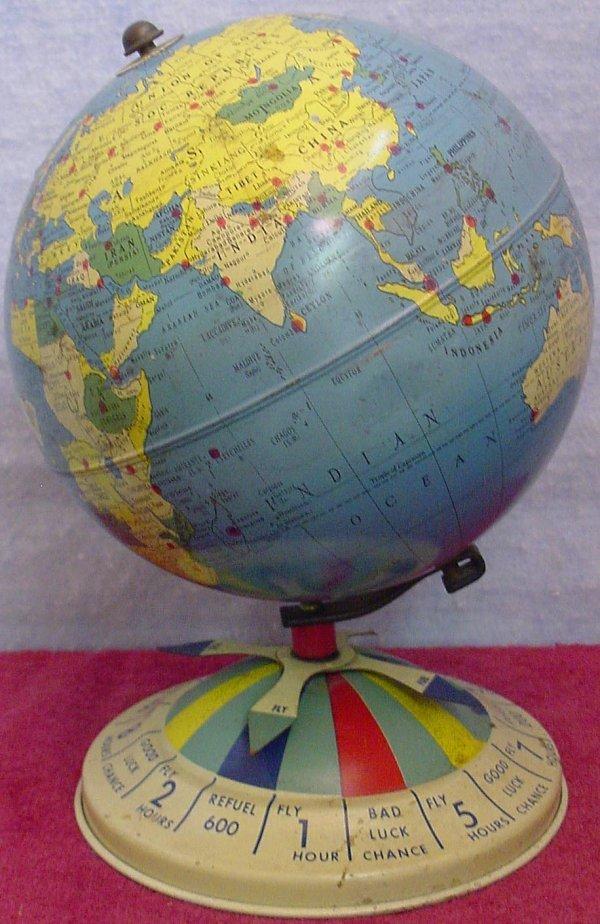 1024: Air Race Globe Repogle Tin Litho