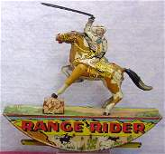 1129: Marx Range Rider Tin Lithographed Toy