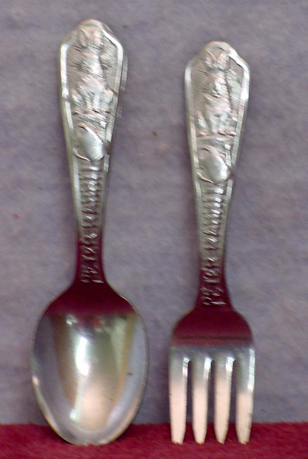 1180: Peter Rabbit Baby Spoon and Fork Set