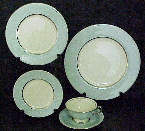 2001: Castelton Turquoise China Set