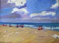 Jane Peterson Beach Watercolor