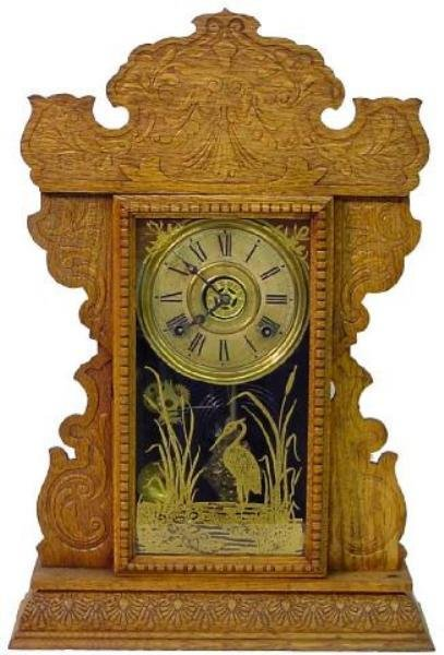 1: Sessions Kitchen Clock w/Alarm & Crane Design
