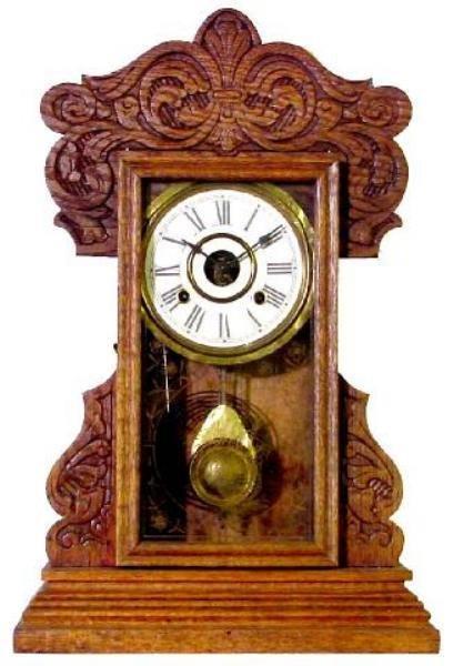 7: Oak Kitchen 1900 Clock