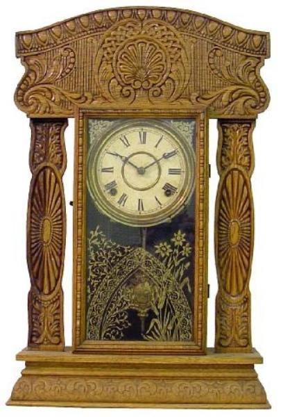 8: Oak Kitchen 1900 Clock