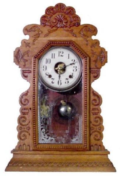 12: Oak Sessions Kitchen Clock w/Beaded Door