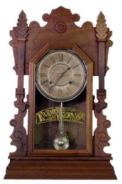 15: Farmers Exchange Walnut Kitchen Clock