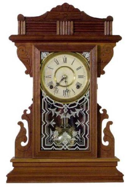 16: Panther Model Gilbert Walnut Kitchen Clock