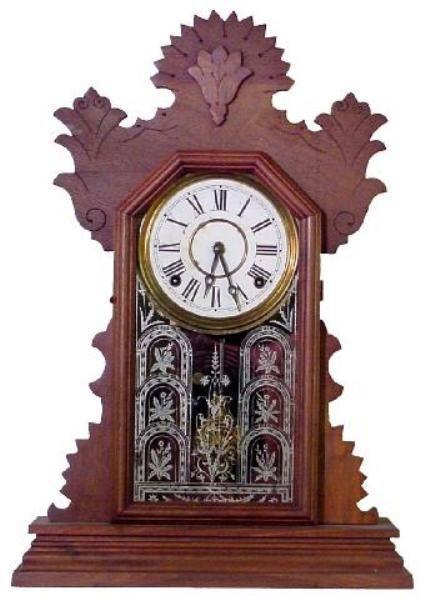 20: Ingraham Walnut Kitchen Clock