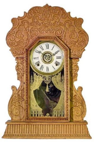 22: Navy No. 23 By Gilbert Clock Co., w/Mermaids, Oak C