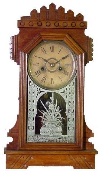 23: Walnut Kitchen Clock, Ca. 1900