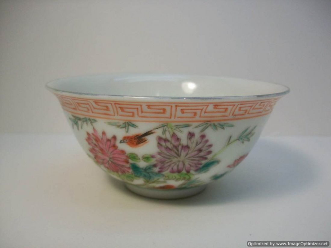 CHINESE FAMILLE ROSE RICE BOWL
