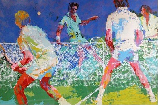 LeRoy Neiman--Men's Doubles AP 1974