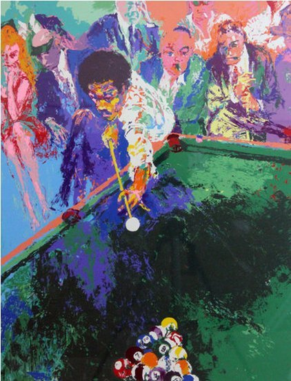 LeRoy Neiman--Black Break