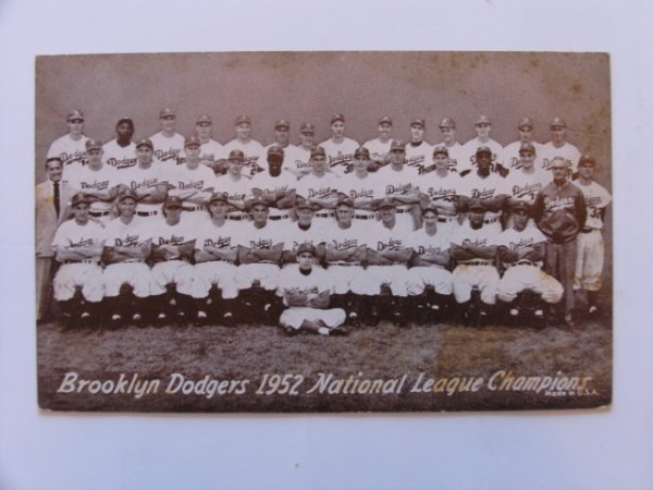 1003: Brooklyn Dodgers 1952  Baseball Exhibit Card