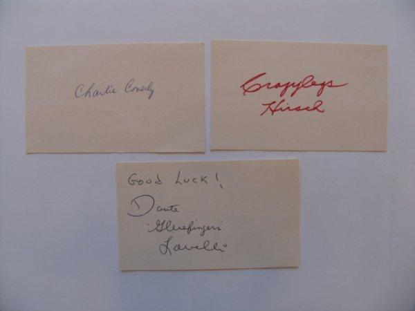 "1005: Football Hall of Famer 3"" x 5"" Autograph Grouping"
