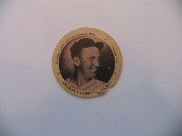 1007: Gabby Hartnett Chicago Cubs 1937 Dixie Lid Card