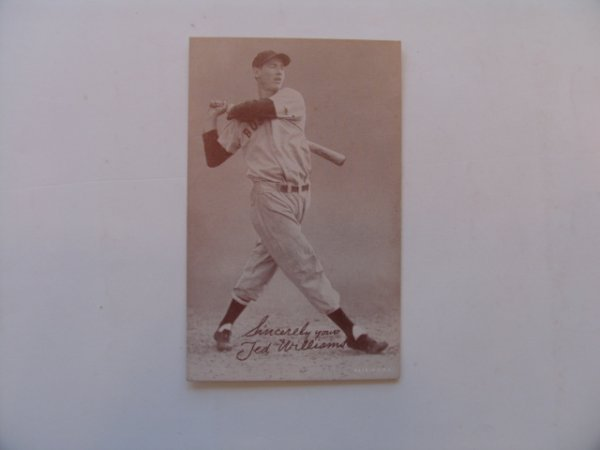 1011: Ted Williams Boston Red Sox Exhibit Card