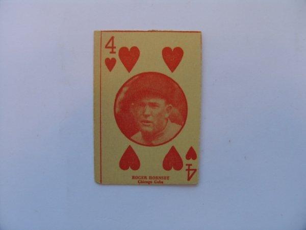 1012: Rogers Hornsby, Cubs 1927 W560 Baseball Card