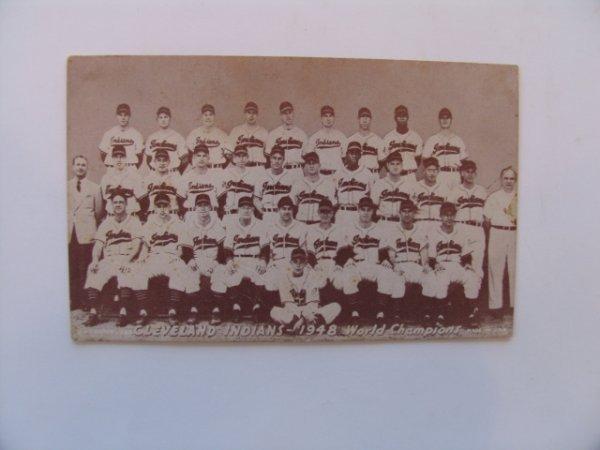 1013: Cleveland Indians 1948 Baseball Exhibit Card
