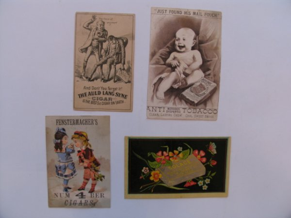 1014: Tobacco Trade Card Grouping of (4) c. 1890's