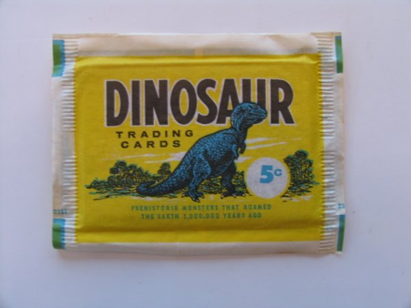 1016: DINOSAUR Trading Cards Unopened 5 Cent Pack