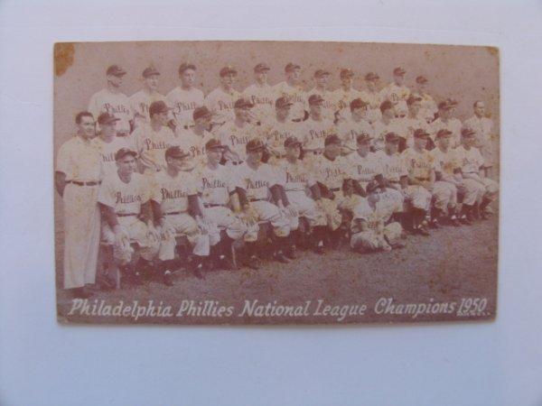 1018: Philadelphia Phillies Whiz Kids 1950 Exhibit Card