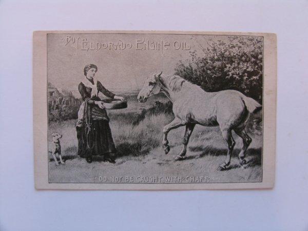 1019: ELDORADO Lubricating Oil Trade Card c. 1890