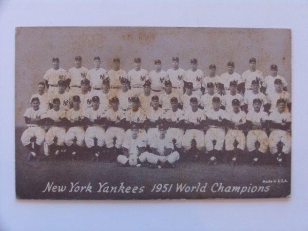 1023: Yankees 1951 World Champions Exhibit Card