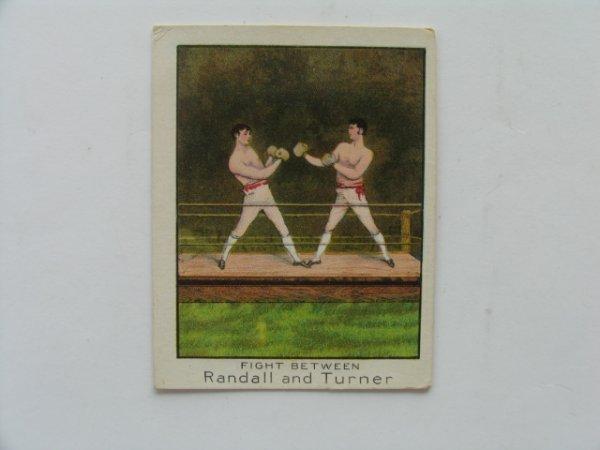 1230: Randall & Turner T220  Boxer Tobacco Card c. 1910