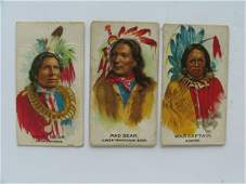 1462: Indian Chiefs Tobacco Card Grouping off (3) c. 18