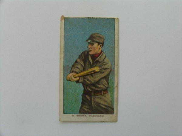 2001: George Brown Washington 1909 T206 Card