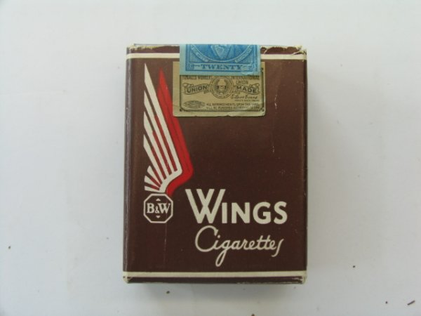 2016: Wings Cigarettes 10 Cent Unopened Tobacco Pack