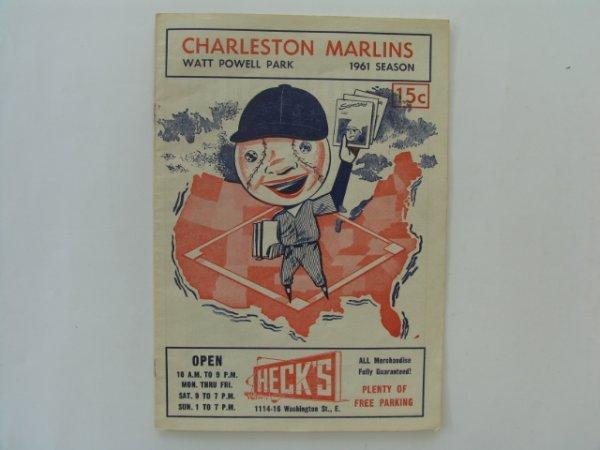 2019: Charleston Marlins vs. Columbus 1961 Program