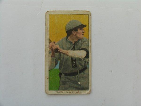 2021: Joe Tinker Chicago 1909 Tobacco Card