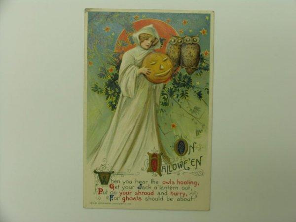 3: Postcard, John Winsch 1911 Halloween