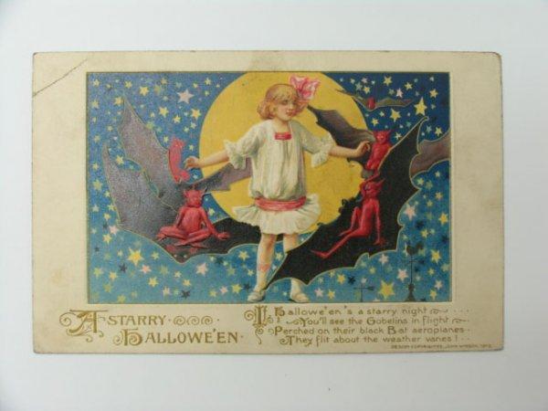 18: Postcard, John Winsch 1913 Halloween