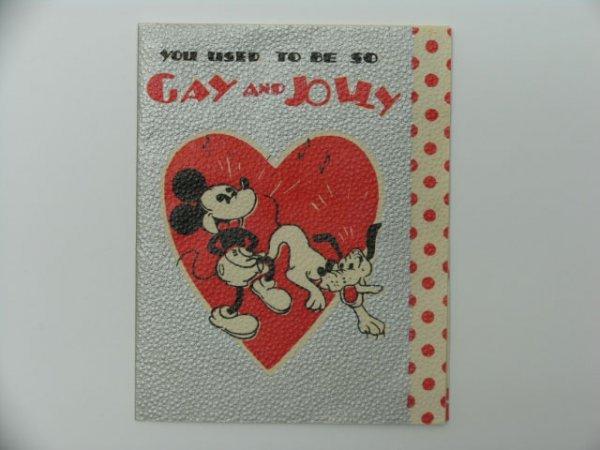 21: Greeting Card, Valentine, Disney, Mickey Mouse