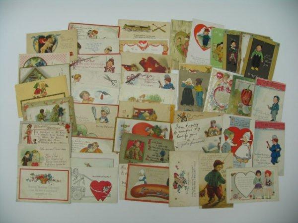 22: Postcards, Valentines, 50 Count