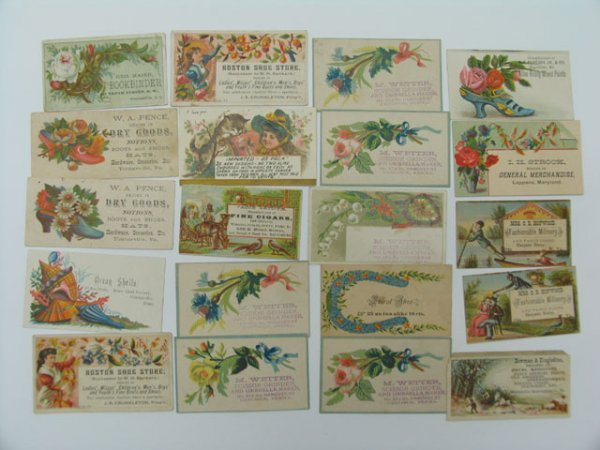 24: Trade Cards, Dry Goods, Shoes, 21 Count