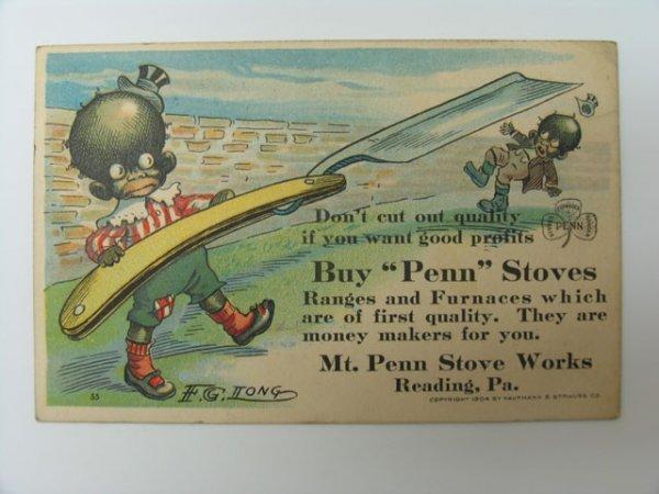 82: Postcard, Advertising, Mt. Penn Stove Works