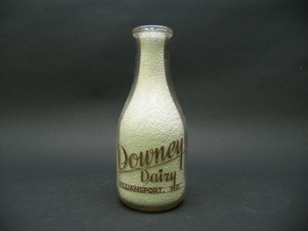 1001: Downey Dairy, Williamsport, MD Milk Bottle