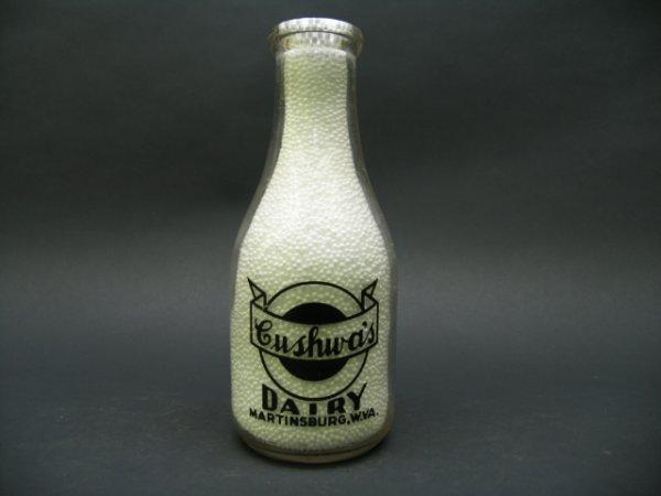 1003: Cushwa's Dairy, Martinsburg, WV Milk Bottle