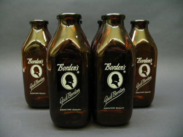 1107: 6, Bordens/Gail Borden Milk Bottles