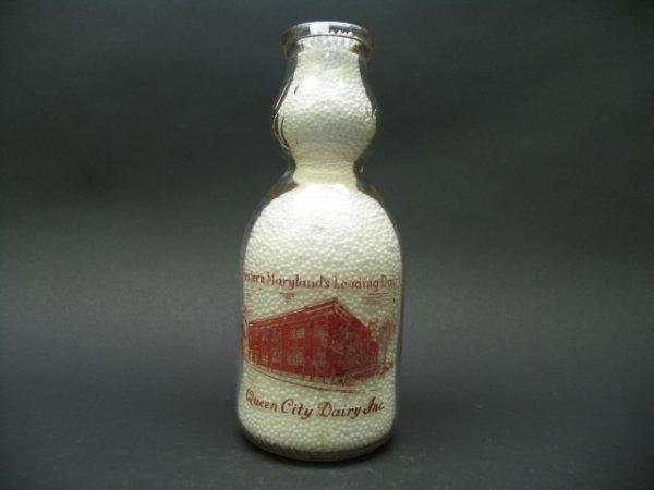 1466: Queen City Dairy Inc, Cumberland, MD Milk Bottles