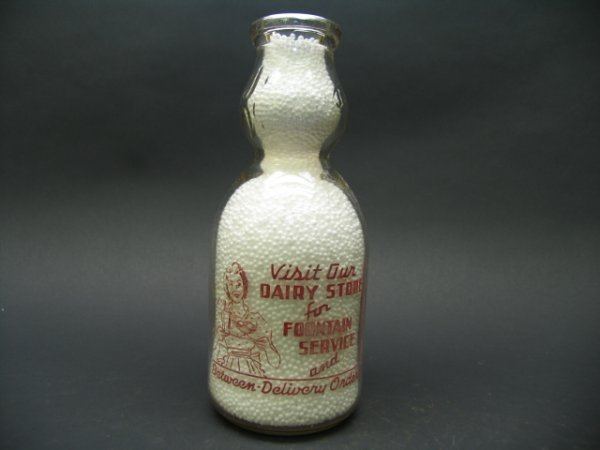 1466: Queen City Dairy Inc, Cumberland, MD Milk Bottles - 2