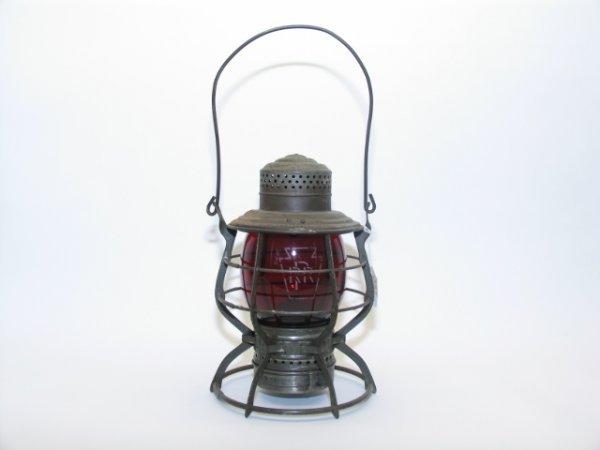 2013: P.R.R. Railroad, Etched Red Globe Lantern