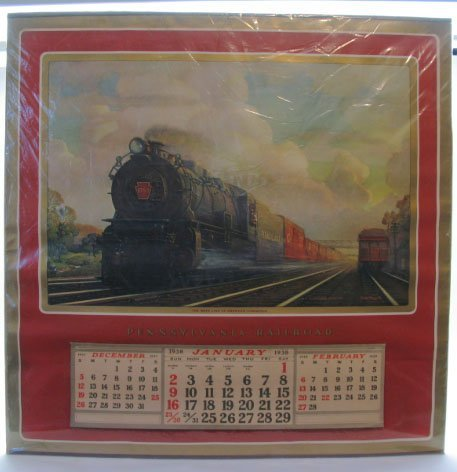 2018: 1938 Pennsylvaian Railroad Calendar