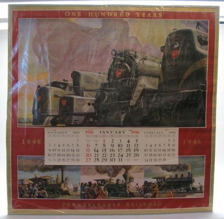2019: 1946 Pennsylvania Railroad Calendar